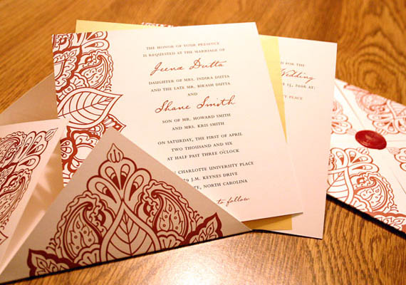 Hindu Engagement Invitation Cards for nice invitation sample